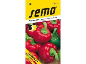 Paprika zeleninová sladká F1 - Tamina F1 pole, rajčinová 15 s