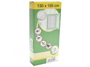 Síť okenní proti hmyzu 130x150 cm - bílá