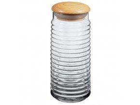 PASABAHCE Dóza skleněná s dřevěným víkem BABYLON 1,5 l