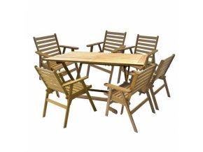 HECHT NARROW SET - set zahradního nábytku