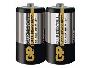 Zinkouhlíková baterie GP Supercell R20 (D) fólie