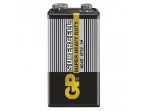 Zinkouhlíková baterie GP Supercell 6F22 (9V) fólie