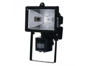 Halogenový reflektor 150W s PIR senzorem černý