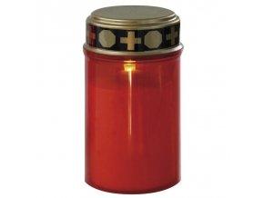 LED hřbitovní svíčka, na 2x AA, červená LED