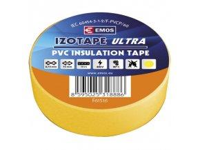 Izolační páska PVC 15mm / 10m žlutá