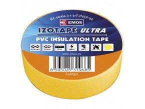 Izolační páska PVC 19mm / 20m žlutá