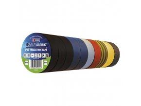 Izolační páska PVC 19mm / 20m barevný mix, 10ks