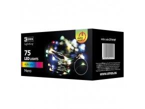 75 LED řetěz zelený nano, 7,5m, IP44, multicolor, časovač