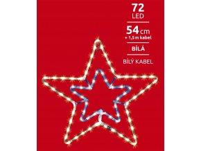 LED dekorace - hvězda svítící