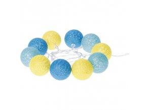 LED girlanda léto - koule bavlněné, 2xAA, teplá bílá