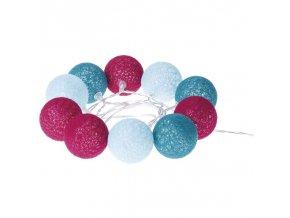 LED girlanda jaro - koule bavlněné, 2xAA, teplá bílá