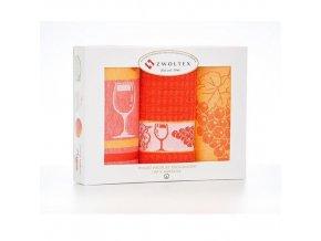 florentyna scierki bawelna recznik kuchenny 2x50x7050x50cm winogrono pomarancz 5906378390796[1]