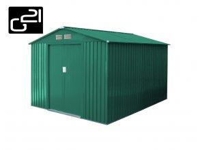Zahradní domek na nářadí G21 - GAH 730 -  251 x 291 cm / zelený
