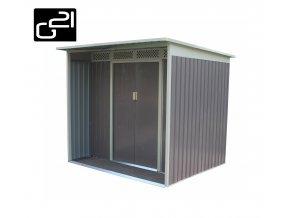 Zahradní domek na nářadí G21 - GBAH 418 - 203 x 172 cm / šedý