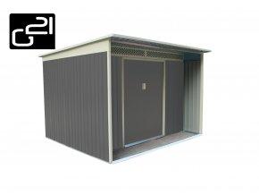 Zahradní domek na nářadí G21 - GBAH 720 - 267 x 236 cm / šedý