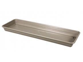 Podmiska pod truhlík LOBELIA plastová hnědo šedá 50cm