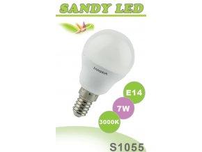 LED žárovka S1055 - E14 B45, 7 W, 3000 K