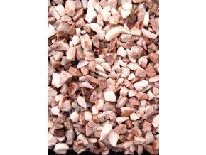 Dolomit drcený růžovo-bílý 4 - 8 mm 25 kg / pytel