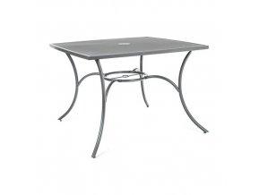 HAPPY GREEN Stůl ocelový čtvercový MAINE 100 x 100 cm