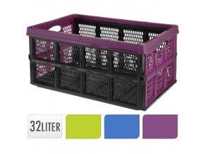 Přepravka rozkládací - 32L MIX barev