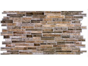 Panel obkladový 3D PVC D0002 - kámen tmavý /  93,5 x 46,9 cm