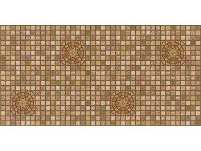 Panel obkladový 3D PVC D0009 - mozaika hnědá /  93,5 x 46,9 cm
