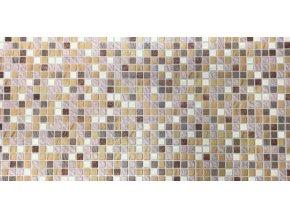 Panel obkladový 3D PVC D0013 - mozaika světle hnědá /  93,5 x 46,9 cm