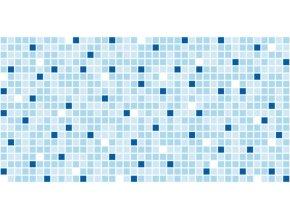 Panel obkladový 3D PVC D0017 - mozaika modrá /  93,5 x 46,9 cm