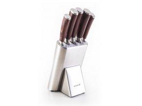 G21 - Sada nožů Gourmet Steely 5 ks + nerez blok