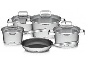 G21 - Sada nádobí Gourmet Magic s cedníkem, 9 dílů, nerez