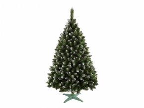 Vánoční stromeček Jedle s bílými konci + stojan 180cm - umělý