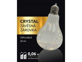 LED dekorace - závěsná žárovka Crystal 15 LED