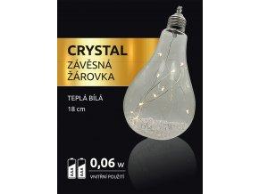 LED dekorace - závěsná žárovka Crystal 12 LED