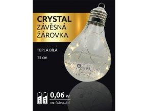 LED dekorace - závěsná žárovka Crystal 10 LED