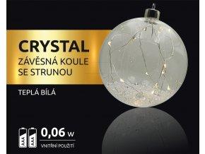 LED dekorace - závěsná koule se strunou Crystal 12 LED