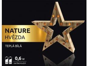 LED dekorace - Nature hvězda 10 LED