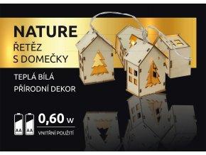 LED dekorace - Nature řetěz s domečky 10 LED