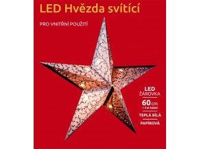 LED dekorace - Svítící hvězda 1 LED