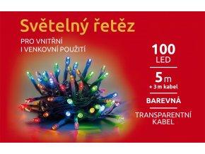 LED Světelný řetěz - 100 LED / 5m - barevná