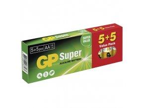 Alkalická baterie GP Super LR6 (AA) 5+5