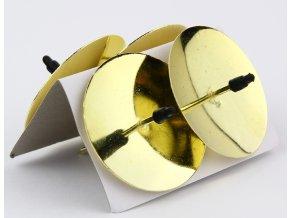 Bodec na svíčku kovový 5 cm, 4 ks lesklý zlatý