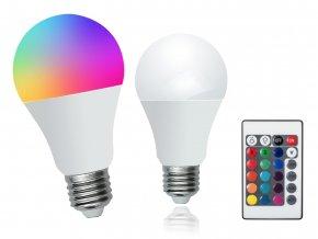 LED žárovka Rabalux 1504 - RGB 7W E27 s Dálkovým ovládáním