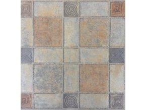 Samolepící podlahové čtverce z PVC - BAREVNÉ DF0004 - 30,4 X 30,4 CM