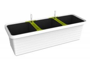 Samozavlažovací truhlík BERBERIS TRIO - Bílý
