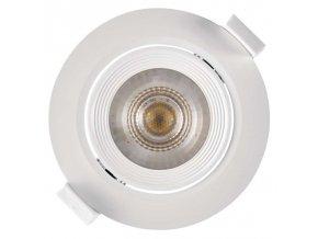 LED bodové svítidlo bílé, kruh 5W teplá bílá