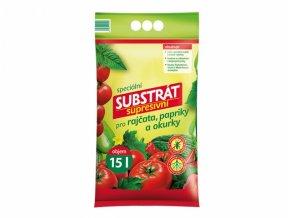 Substrát PROFÍK supresivní rajčata, papriky a okurky 15l