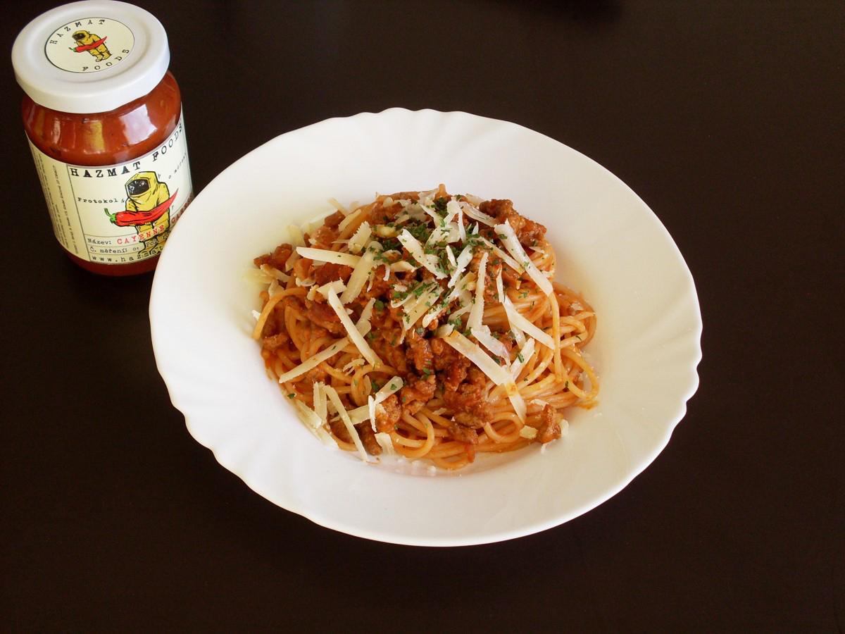 Spaghetti bolognese s Cayenne Caress