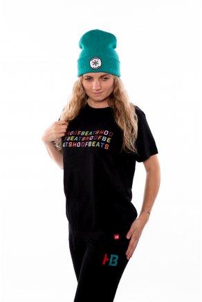 Černé triko Hoofbeats abeceda