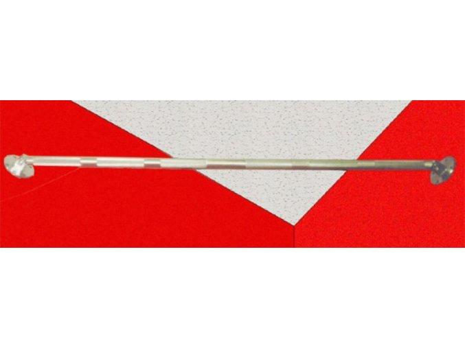 Hrazda rohová niklovaná,délky 1800 mm(včetně kotevních prvků).VÝROBA ČR!