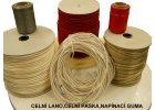 Celní lana, pásky, napínací gumy a příslušenství